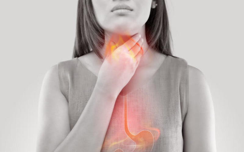 Woman With Difficulty Swallowing