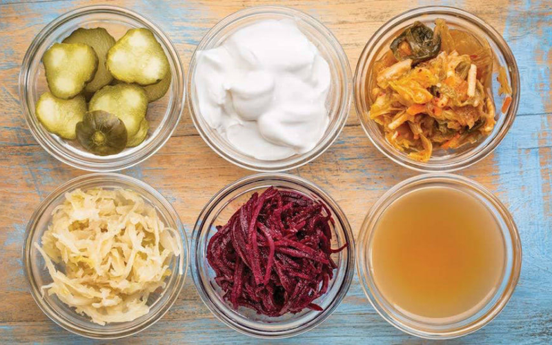 Group of fermented foods probiotics